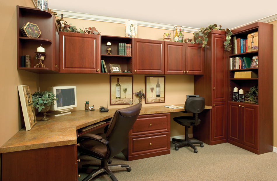 Tips for moving your den or home office from coastal for Study room wall cabinets